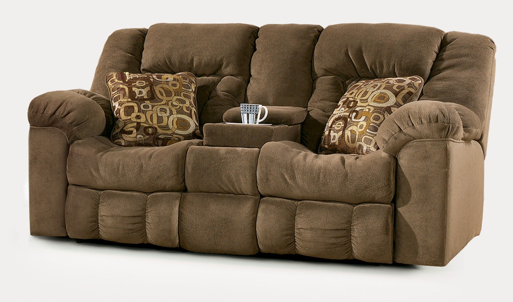 Furniture Living Room Furniture Recliner Brown Loveseat Double Recliner