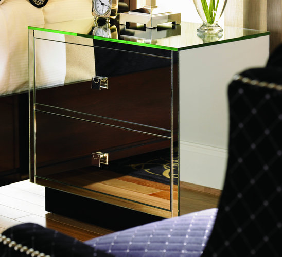 Mirrored Night Stand Trump Home Central Park Gotham