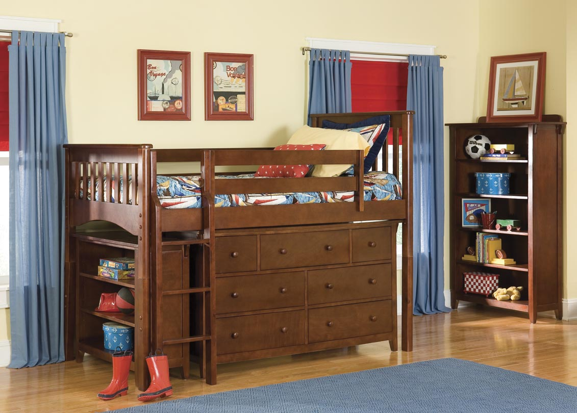 Triple Lindy Bunk Bed Plans The mission loft bed with