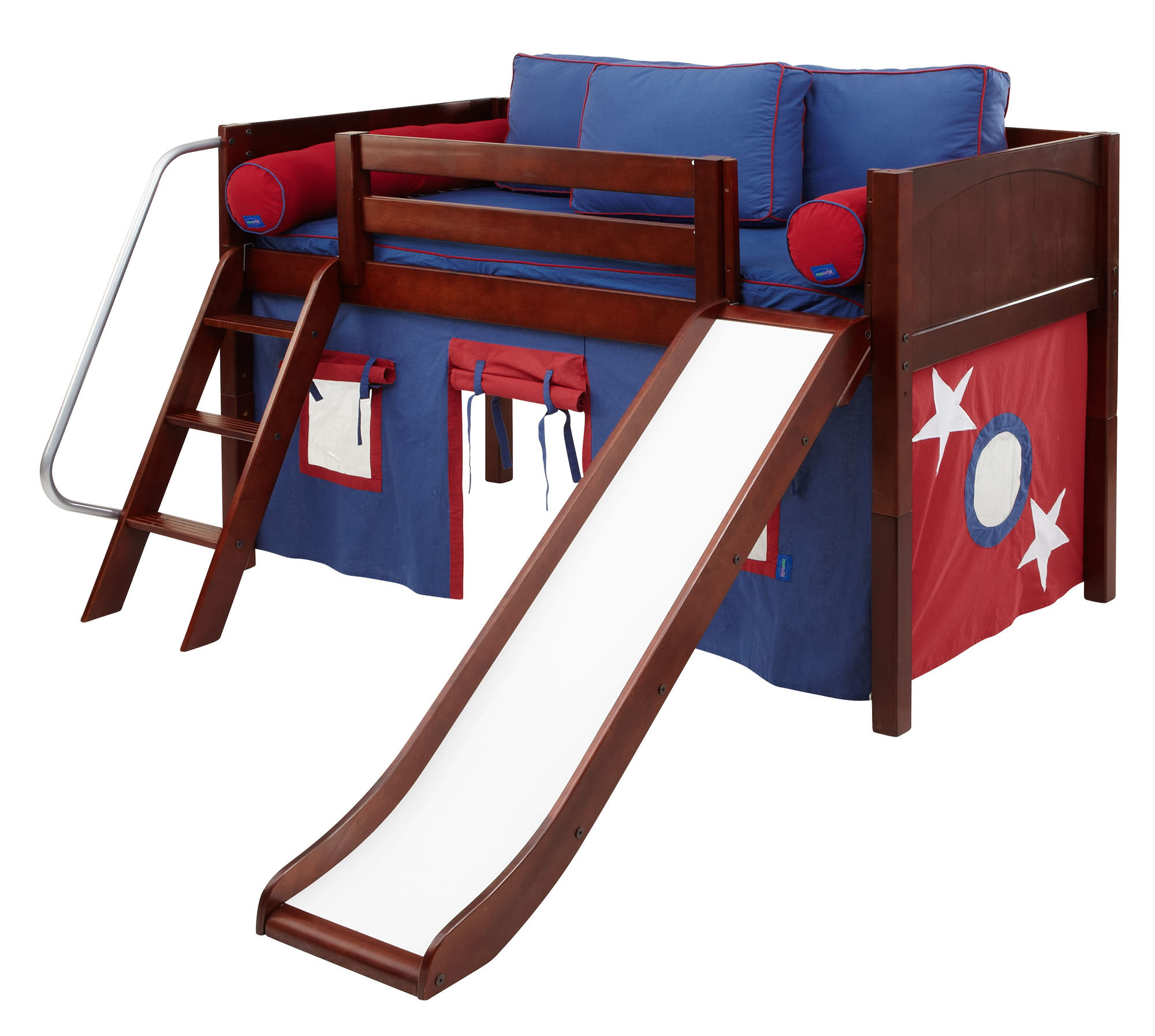 Full Size Loft Bed with Slide 2000 x 1794