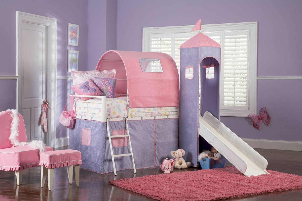 Princess Bunk Bed with Slide 1200 x 800