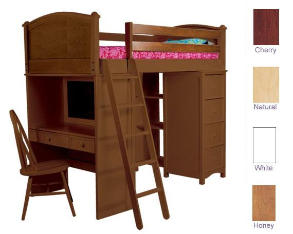 Bolton Furniture Cooley SSS Twin Loft Bed - 4 Finish Options! Best Price