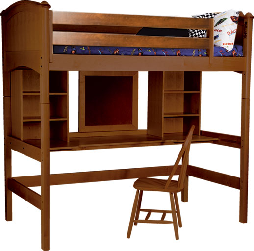 Bolton Furniture Cooley Twin Study Loft Bed - 4 Finish Options! Best Price