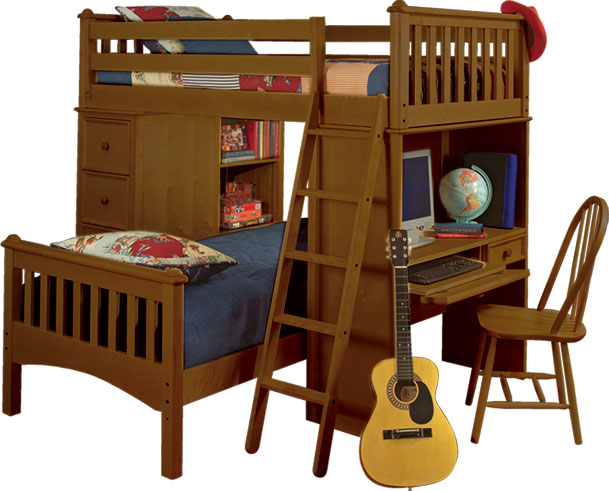 Bolton Furniture Mission SSS Twin Loft Bed - 4 Finish Options! Best Price