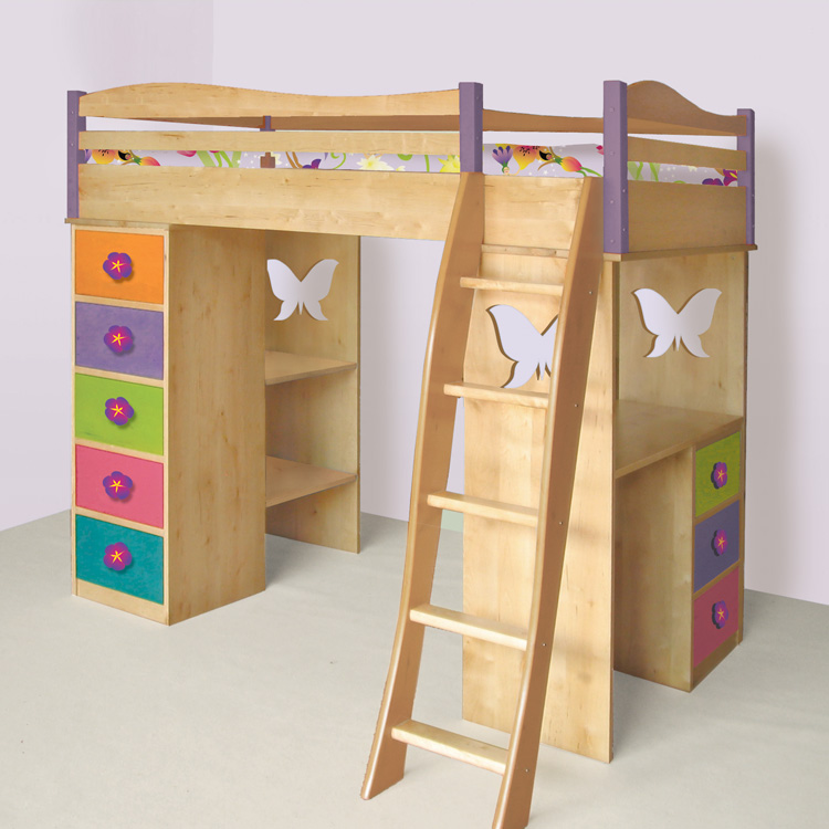 Boys Loft Bed with Desk 750 x 750