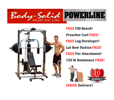 body solid powerline smith machine system 0 0 Body Solid Powerline PSM1442XS Smith Machine System   INSIDE Delivery!