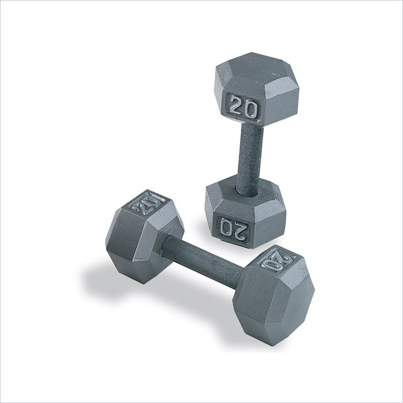 Body-Solid Grey Hex Dumbbell Set 80 to 100 lbs Pairs