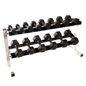 CAP Barbell 5-50 lb Hex Urethane Dumbbell Set