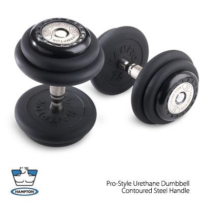 Hampton Fitness 5 to 50 lbs Pro-Style Urethane Dumbbell Set