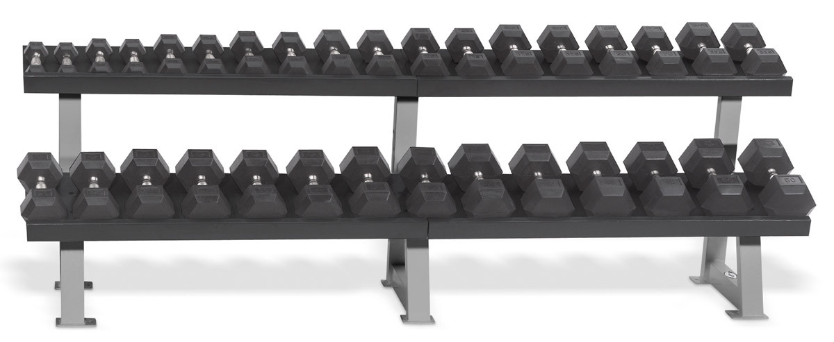 Hampton Fitness 2.5 - 50 lbs 16 Pair Dura-Bell Dumbbell Set