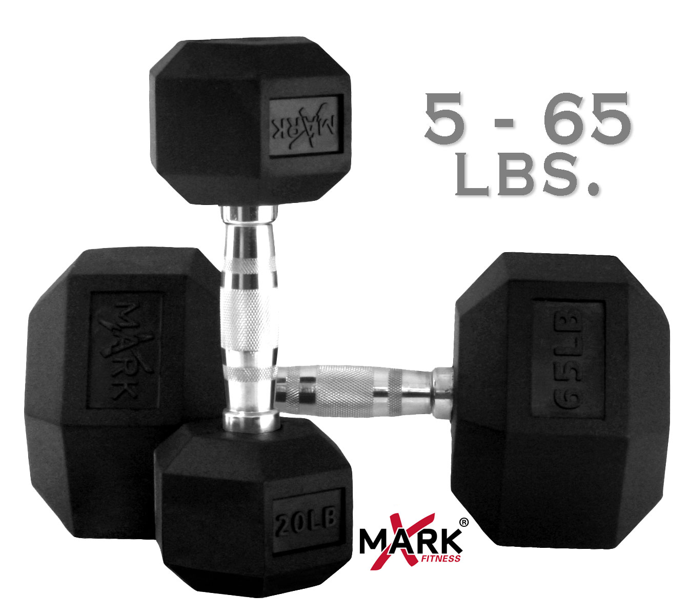 x mark fitness 5 lb to 65 lb rubber hex dumbbell set dumbbell 0 0 X Mark Fitness 5 lb to 65 lb Rubber Hex Dumbbell Set