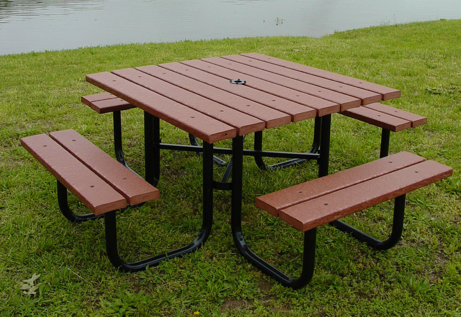 furniture outdoor furniture picnic table 4 square picnic table. Black Bedroom Furniture Sets. Home Design Ideas