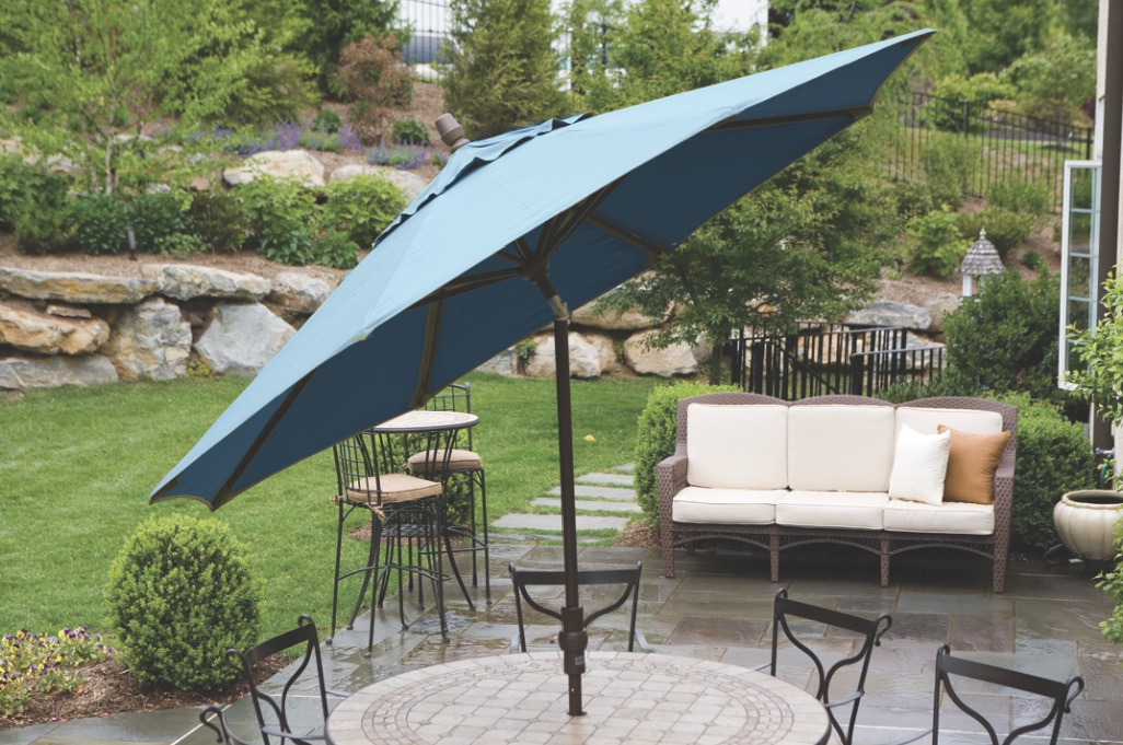 Patio Umbrellas Market Umbrellas Green Corner 11 ft. Octog