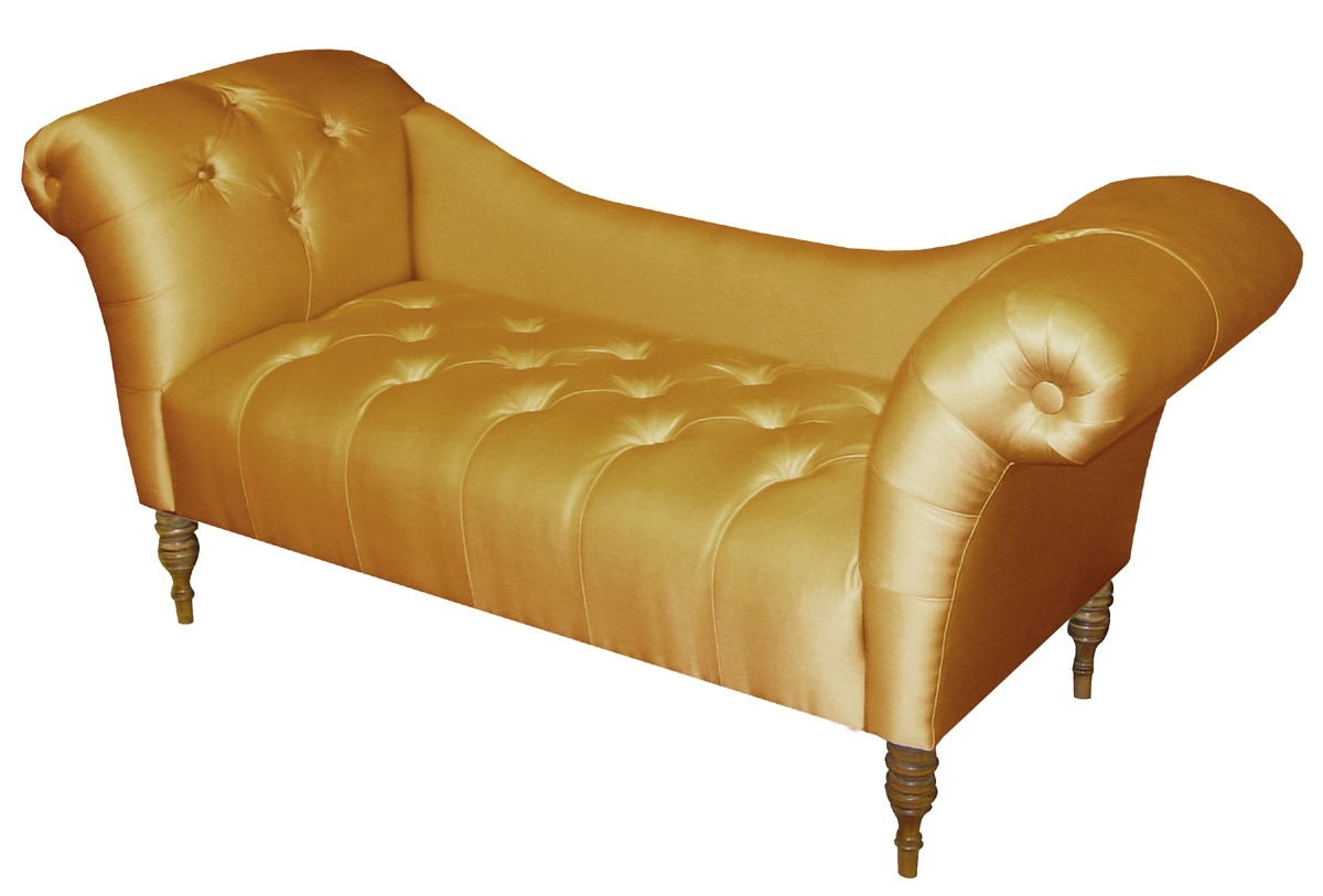 Furniture living room furniture chaise gold chaise for Chaise furniture