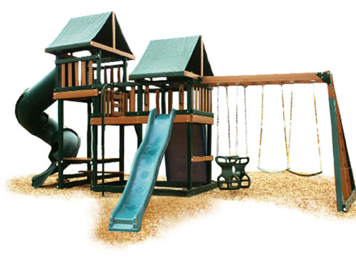 Kidwise CONGO Monkey Play Set Package Number 3   Green and Cedar Swing Set 0 0 Kidwise CONGO Monkey Play Set Package Number 3   Green and Cedar