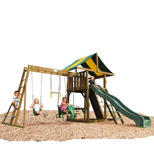 Kidwise Lincoln Swing Set   Top Ladder With Rope Accessories Swing Set 0 0 Kidwise Lincoln Swing Set