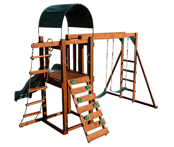 woodlawn bearcreek bungalow swing set 0 0 Woodlawn Bearcreek Bungalow Swing Set   FREE Inside Delivery!