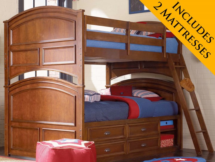 Full Over Full Bunk Beds with Mattresses 720 x 543