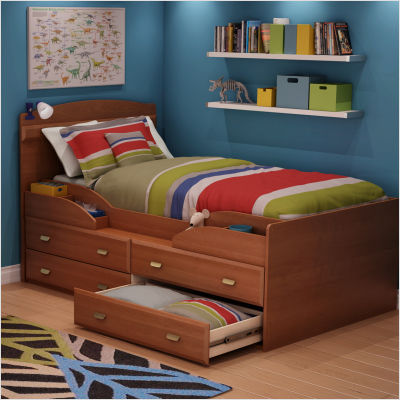 South Shore Morgan cherry Imagine Transitional Twin captain bed (39\\ ) Best Price