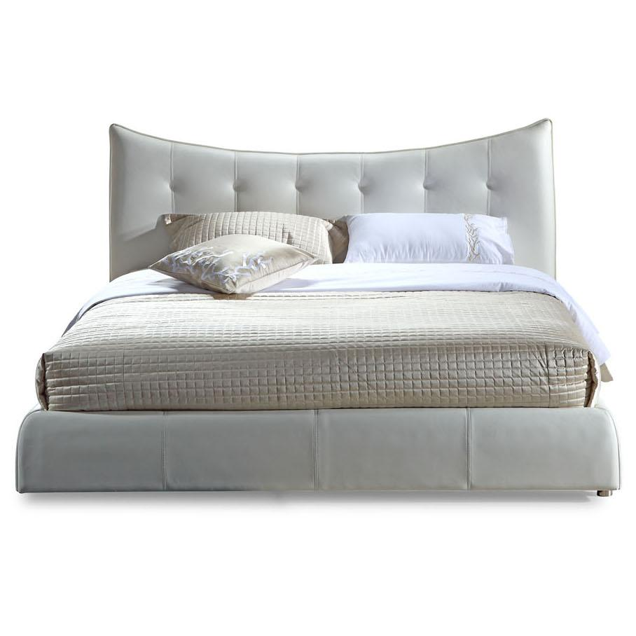 TOSH Furniture Moda Modern White Bed Best Price