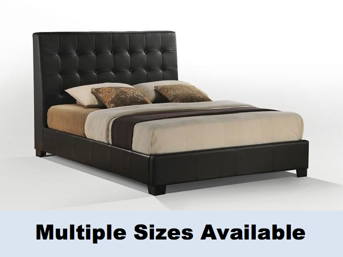 Accent Furniture Arlington Leather Tufted Platform Bed Best Price