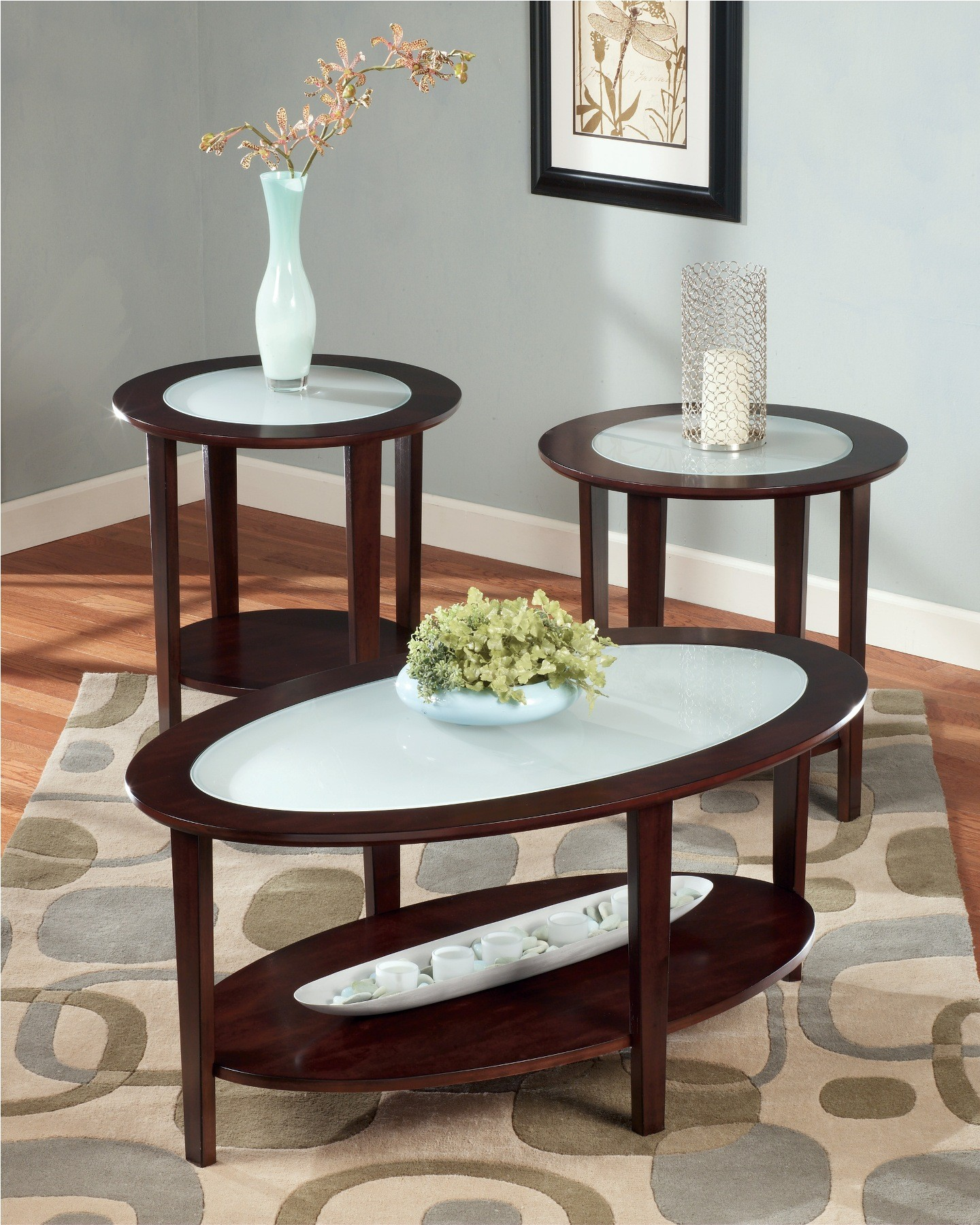 Furniture Living Room Furniture Tops Glass Inlay Top