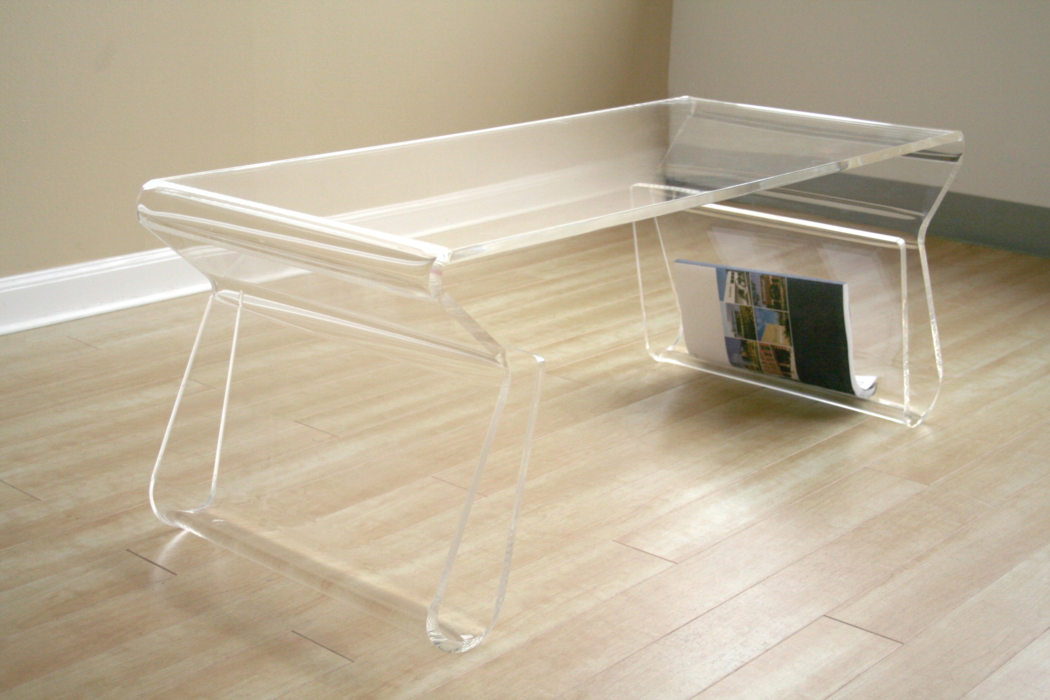 Furniture living room furniture coffee table clear acrylic coffee table Clear coffee table