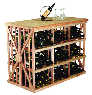 Wine Cellar Innovations 216 Bin Bottle Tasting Table Wine Furniture - FREE Inside Delivery!