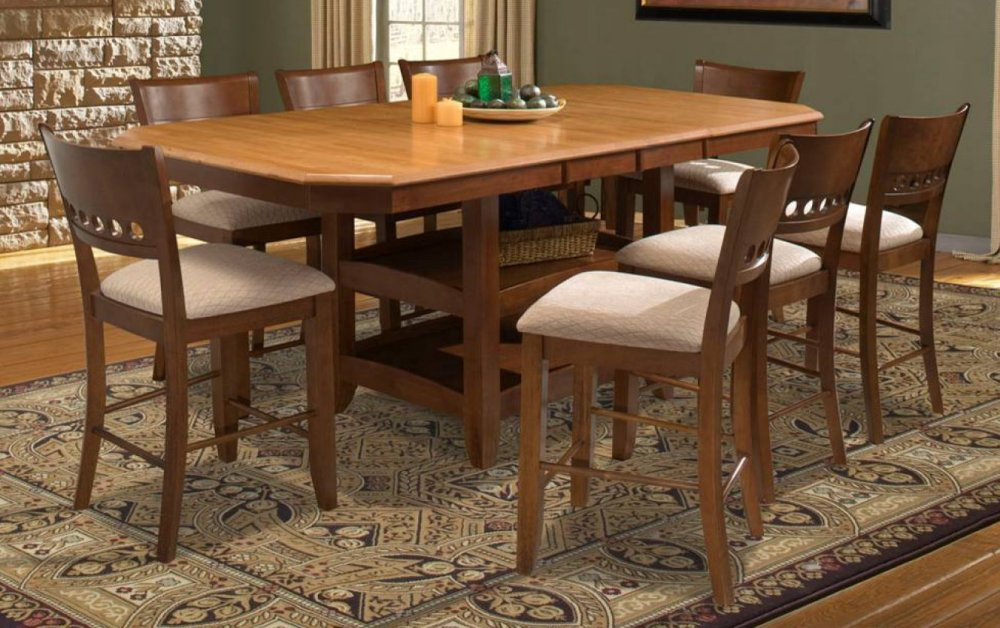 piece counter height dining set with double butterfly leaves dining