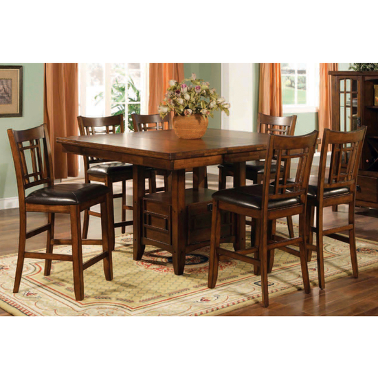 eureka counter height dining set with 18 inch leaf dining set 0