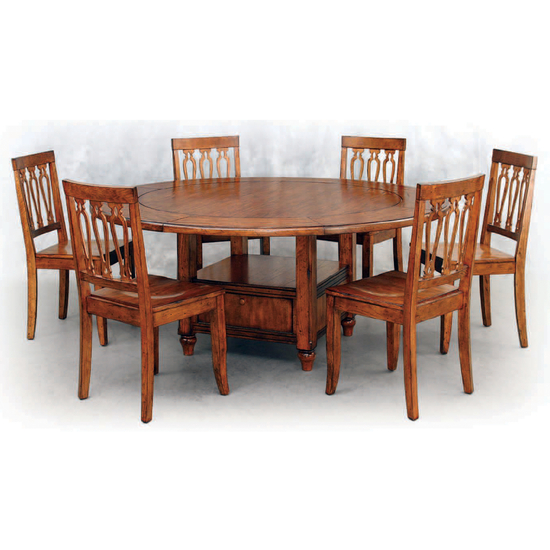Furniture dining room furniture gathering table for Dining room tables with storage