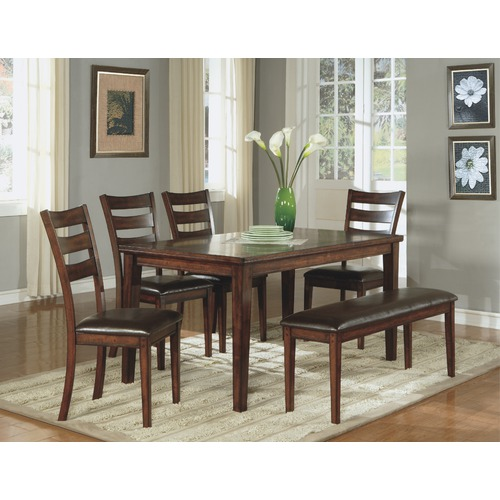 Furniture Dining Room Furniture Table Dark Cherry Casual Dinin