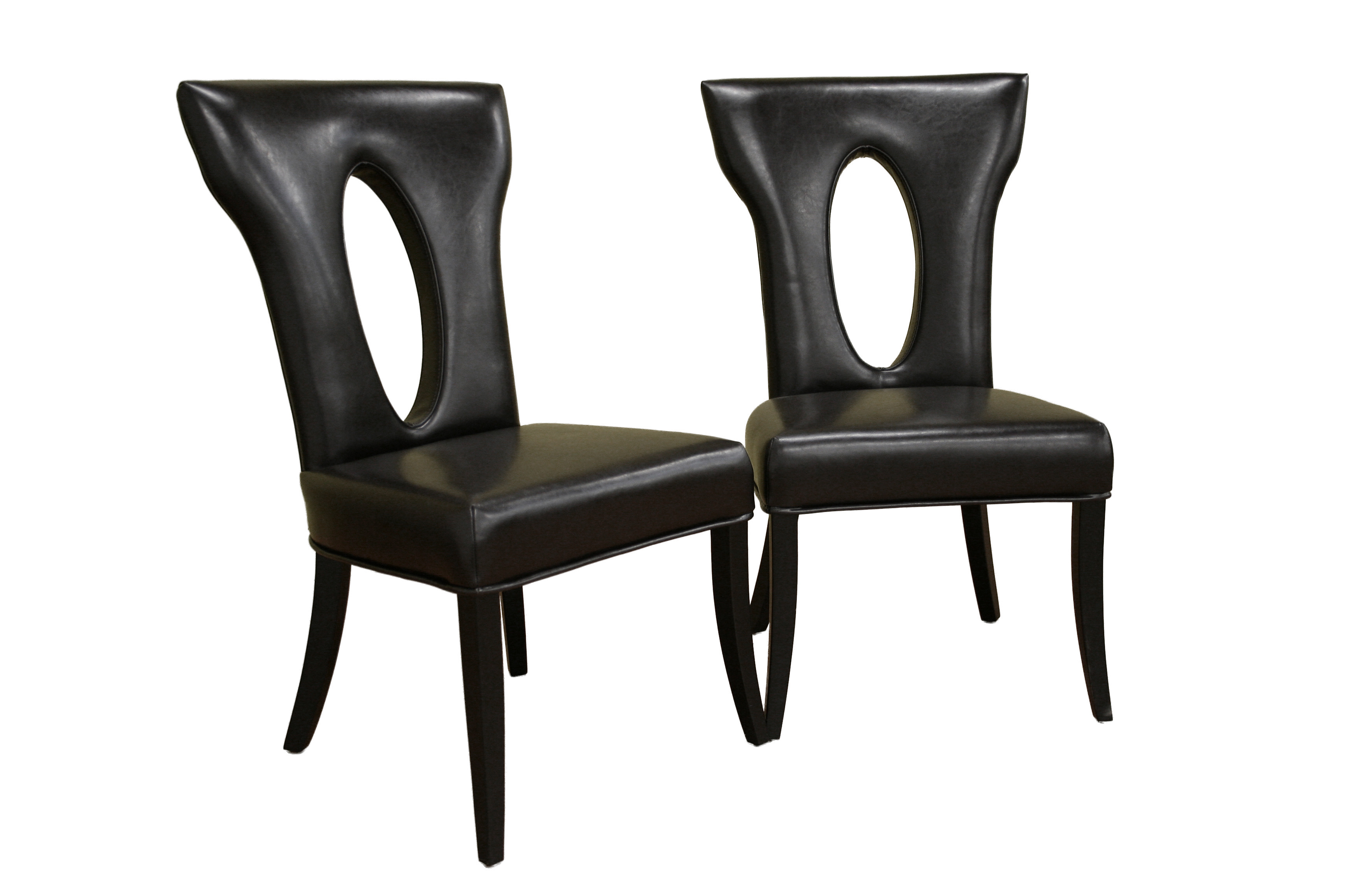 Black High Back Dining Chairs Chair Pads Cushions