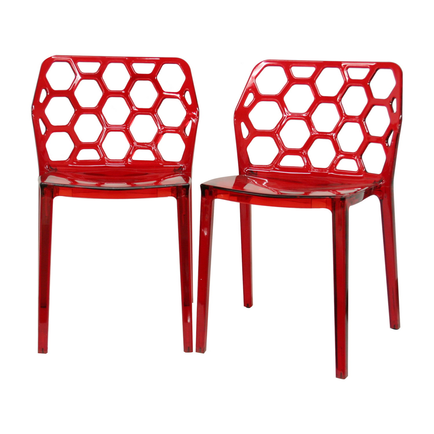 Furniture dining room furniture chair contemporary for Red modern dining chairs