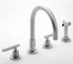 Newport Brass 8 inch Center with Solid Brass Pull-Out Spray Kitchen Faucet - Fast FREE FedEx Shipping!