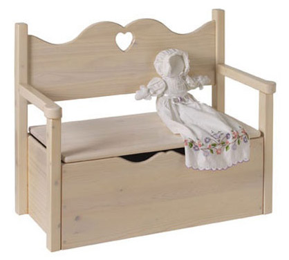 149 UNFINISHED BENCH TOY BOX LITTLE COLORADO (877) 552 - 2229