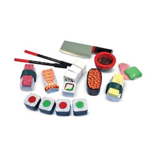 Melissa and Doug Sushi Slicing Play Set Play Kitchen Accessory 0 0 Melissa and Doug Sushi Slicing Play Set