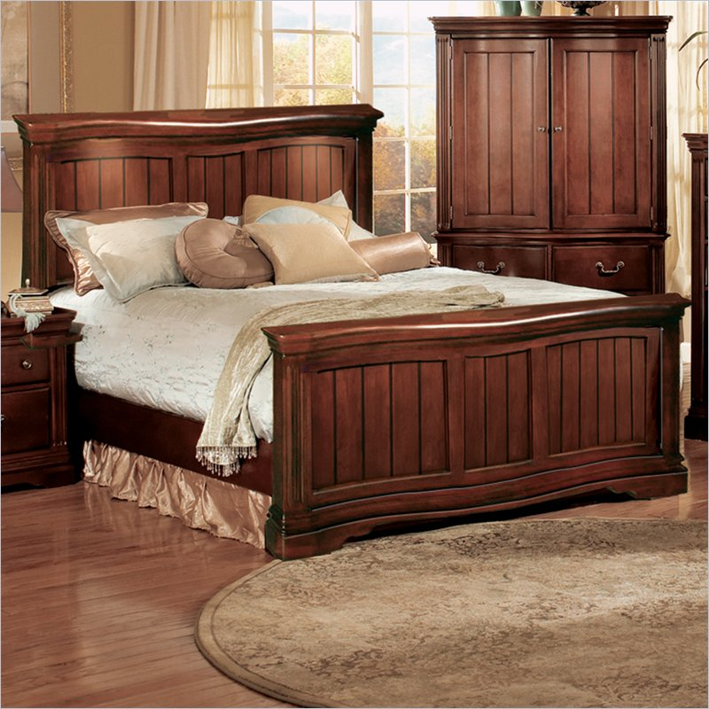 Accent Furniture Greenbriar Serpentine Bed with Lights Best Price