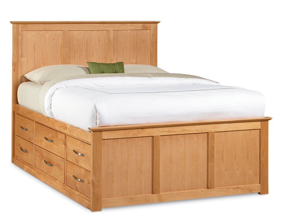 Furniture bedroom furniture bed pedestal bed for Pedestal bed