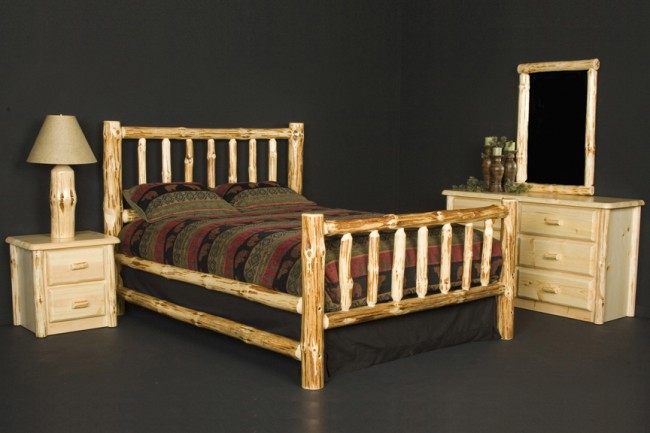 furniture bedroom furniture log peeled log