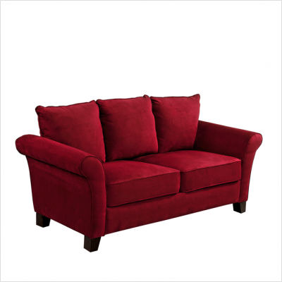 Furniture Living Room Furniture Microfiber Sofa Red
