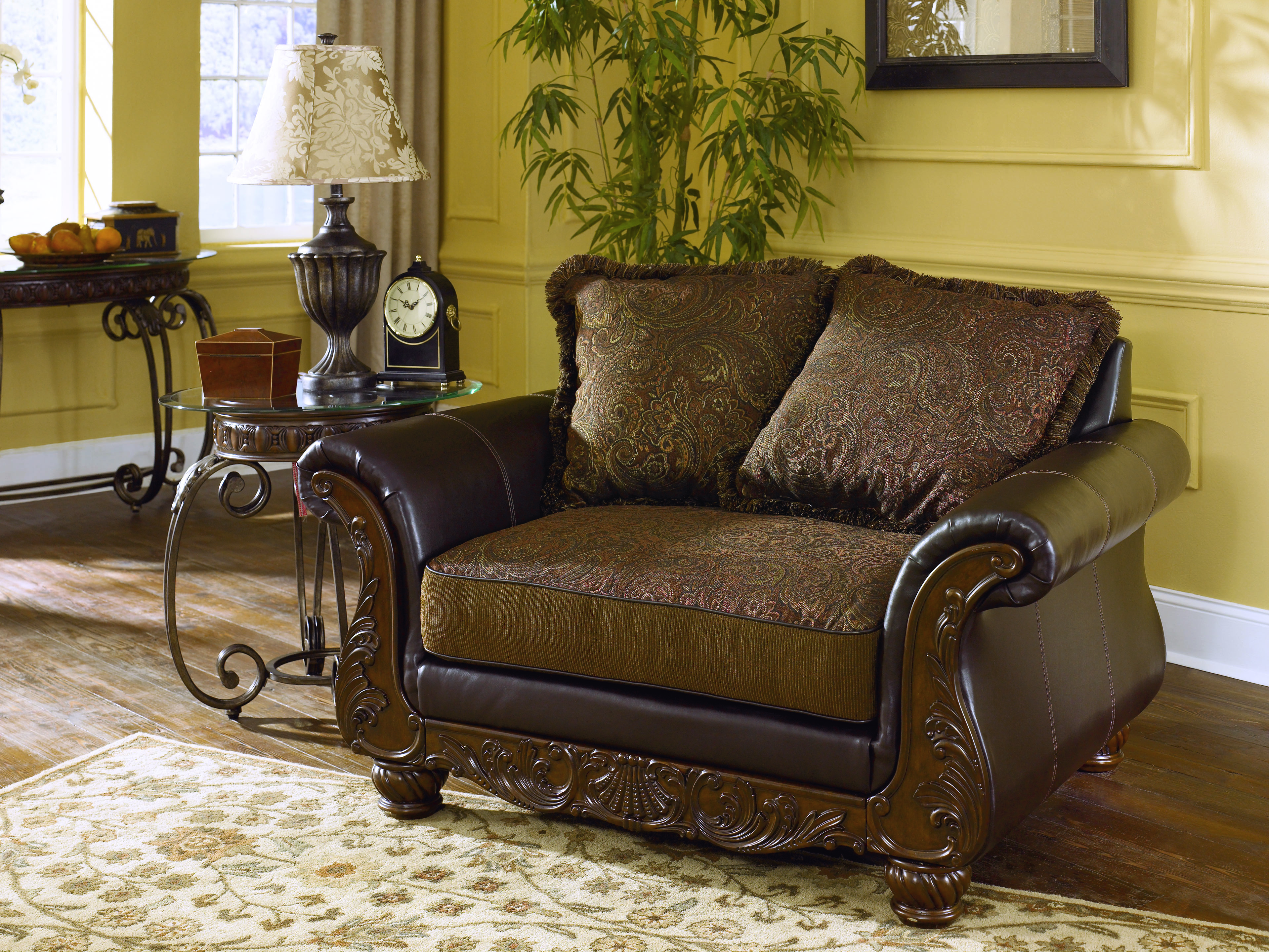 Furniture Living Room Furniture Accent Chair Walnut