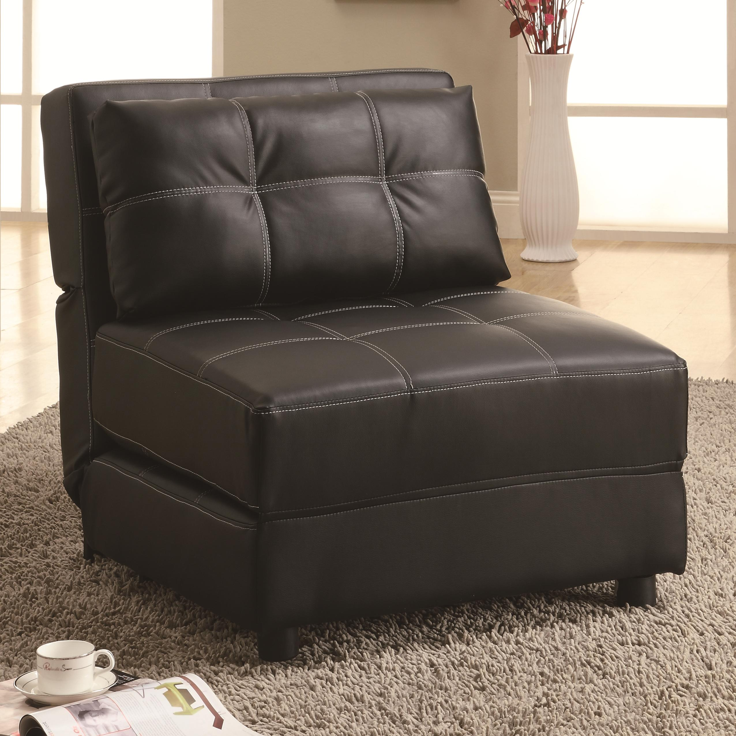 Furniture Living Room Furniture Accent Chair Leather Armless A