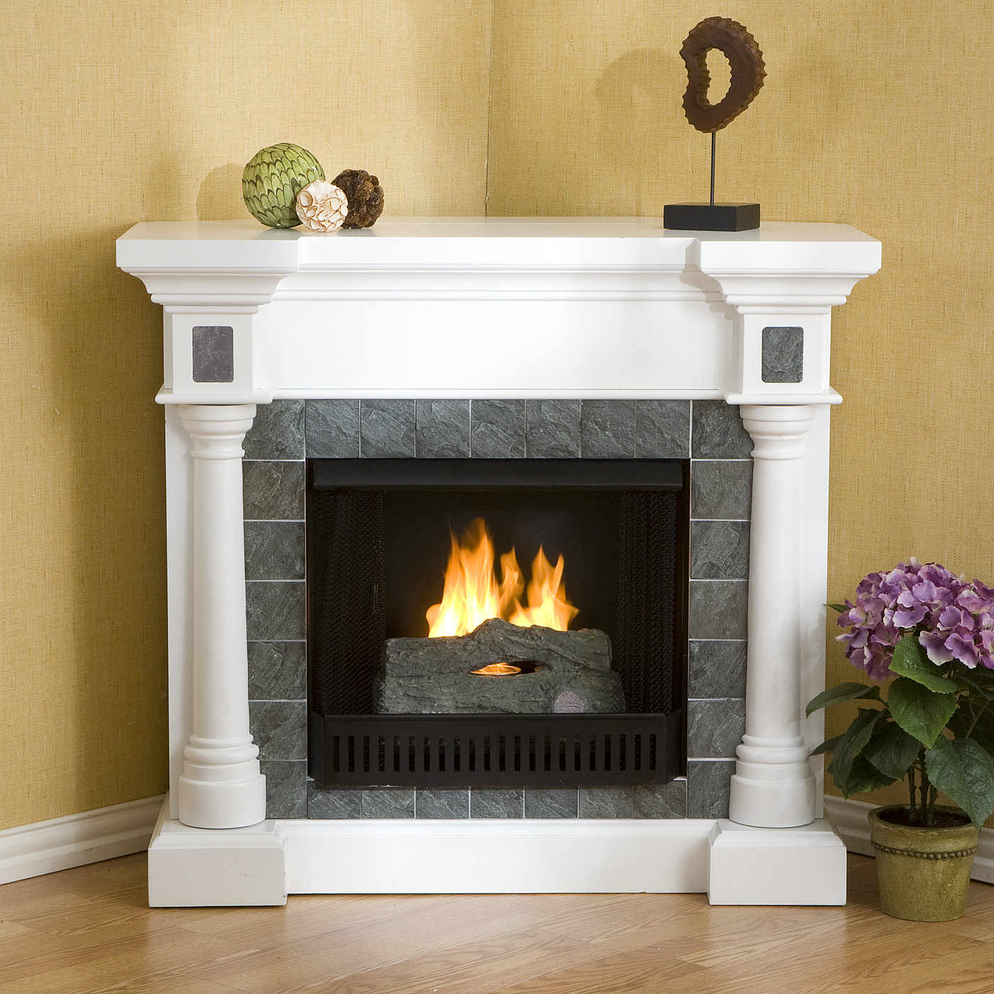 GAS CORNER FIREPLACE MANTELS – Fireplaces