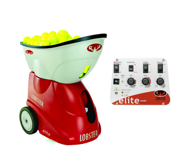 Lob ster Elite Tennis Ball Machine 0 0 Lobster Elite Model 1