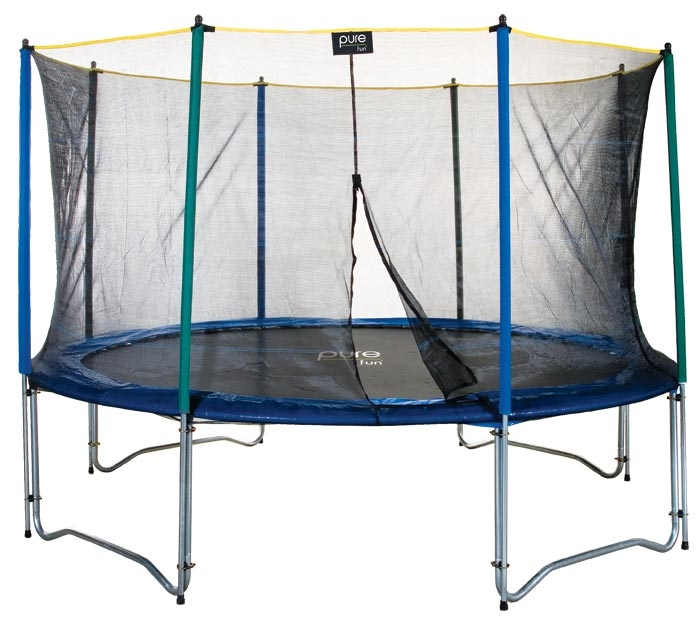 Pure Fun 13  Trampoline and Enclosure Set Trampoline 0 0 Pure Fun 13 ft Trampoline and Enclosure   50% Off!