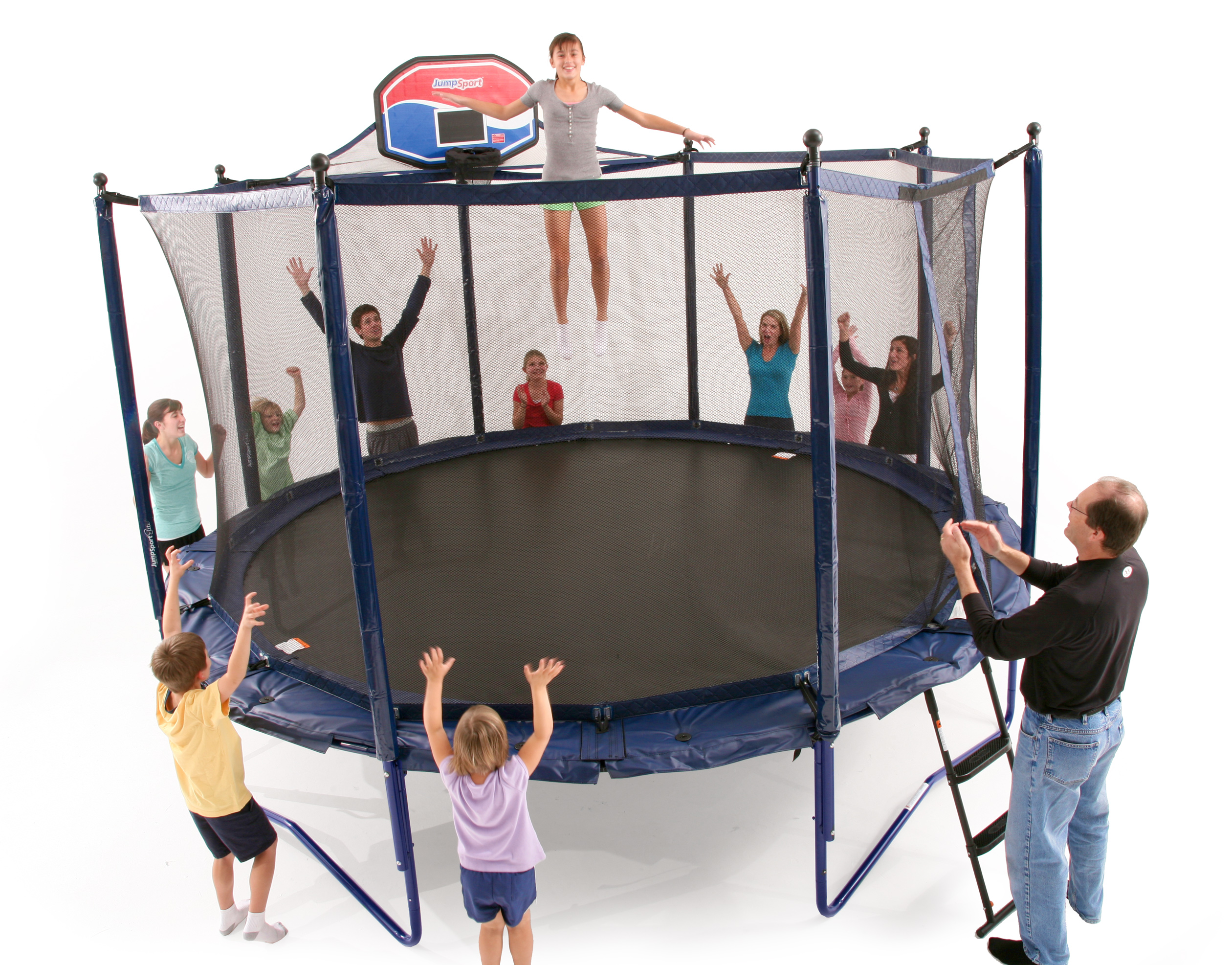 jumpsport elite js elite 14 powerbounce system with enclosure v1 trampoline 0 0 JumpSport Elite 14 ft PowerBounce Trampoline and Enclosure