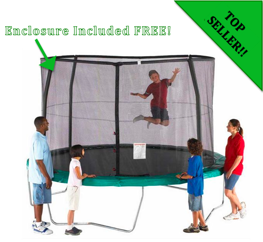 orbounder 12 trampoline and enclosure combo trampoline 0 0 Orbounder 12 ft Trampoline   Enclosure Included FREE!