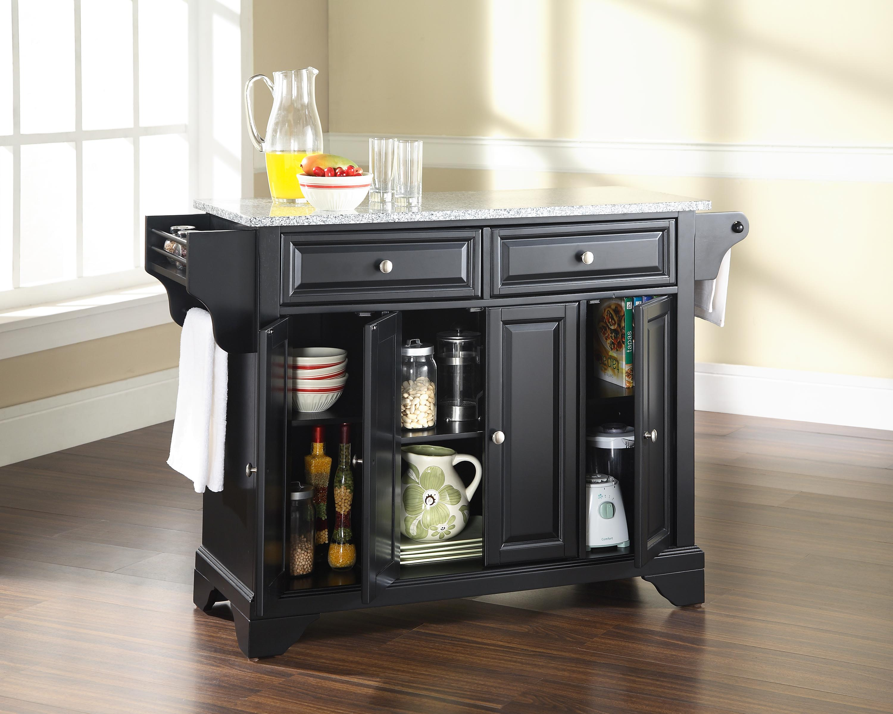 Crosley Furniture LaFayette Solid Granite Top Kitchen Island in ...