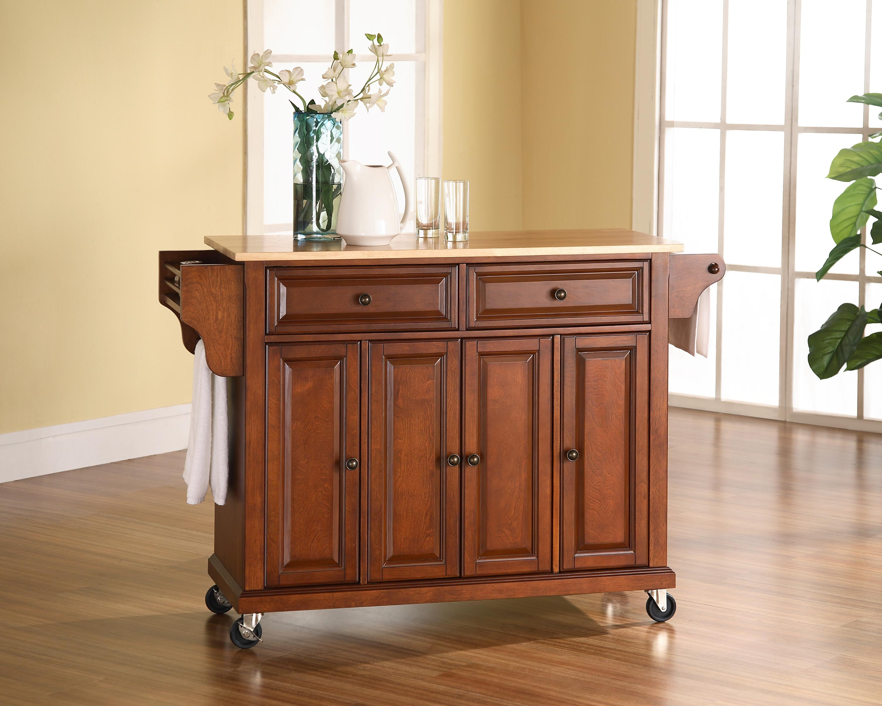 Bargain Superstore - Crosley Furniture Natural Wood Top Kitchen